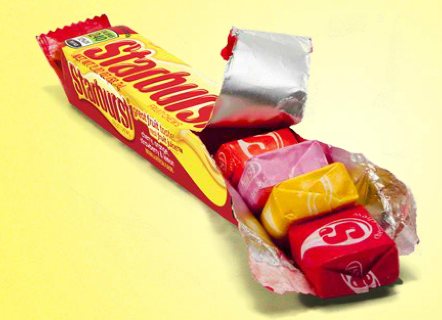 """<p><strong>Starburst</strong><br></p><p>These fruity, chewy candies were first launched <a href=""""http://www.wrigley.com/global/brands/starburst.aspx"""" rel=""""nofollow noopener"""" target=""""_blank"""" data-ylk=""""slk:in the U.K. in 1960"""" class=""""link rapid-noclick-resp"""">in the U.K. in 1960</a>, making their way over the Atlantic in 1967. The original flavors were strawberry, lemon, orange, and lime. </p>"""