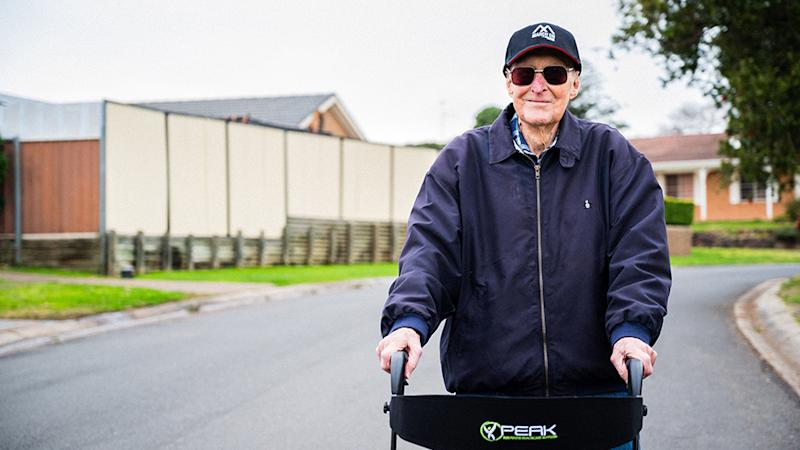 Sergeant Bert Le-Merton is walking 96km at 101-years-old for a good cause. Source: Soldier On