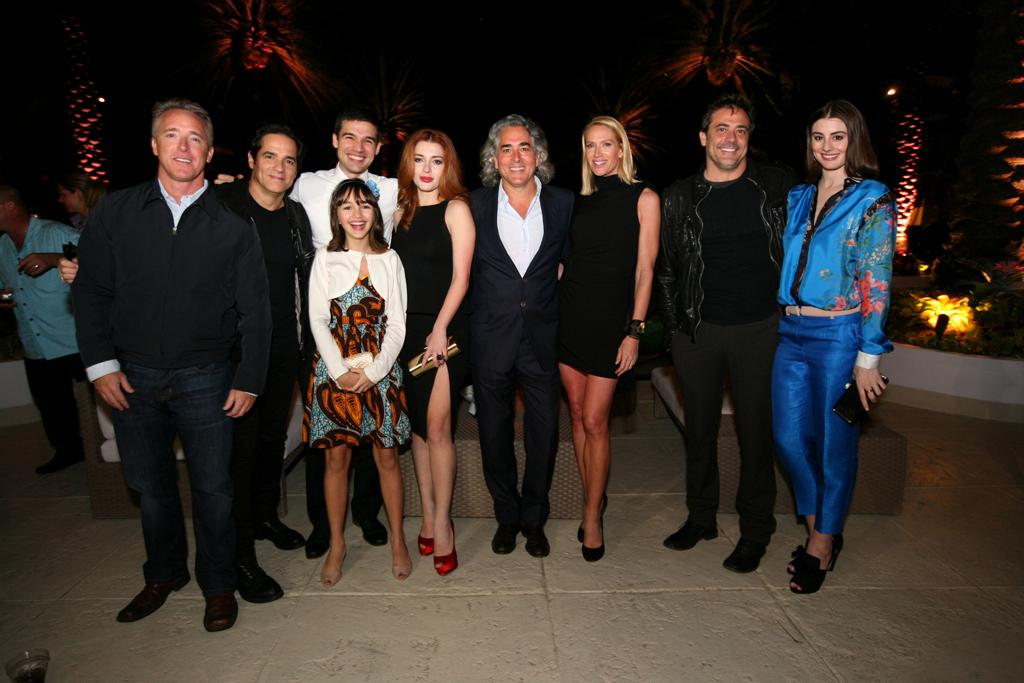 "Geyer Kosinski, Yul Vasquez, Steven Strait, Taylor Blackwell, Elena Satine, Mitch Glazer, Kelly Lynch, Jeffrey Dean Morgan, and Dominik Garcia-Lorido attend the ""<a target=""_blank"" href=""http://tv.yahoo.com/magic-city/show/46996"">Magic City</a>"" premiere at Colony Theater on March 4, 2012 in Miami Beach, Florida."