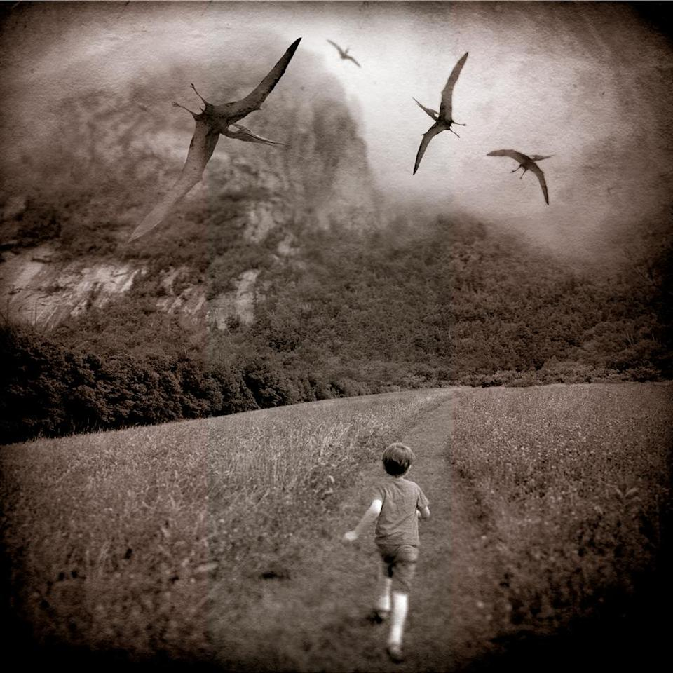 """<div class=""""caption-credit""""> Photo by: David Niles</div><p> <b>Playing with Pterodactyls</b> </p>"""