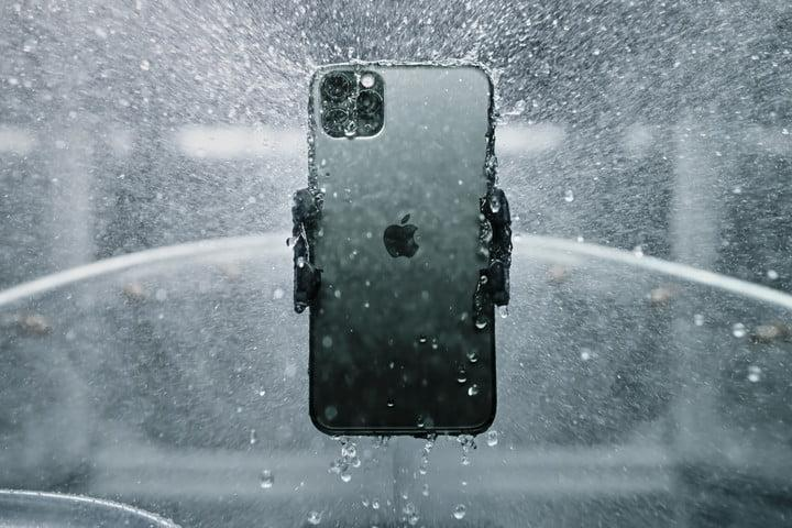 Apple iPhone 11 Pro and Pro Max hero shot soaked it water | Apple September 2019 Event Keynote