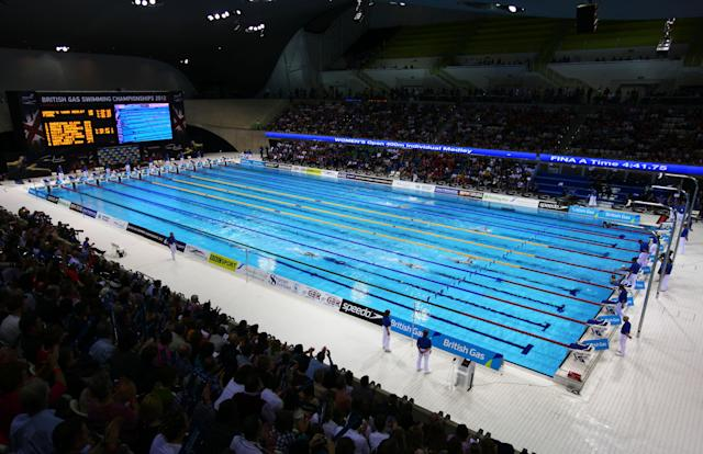 The Aquatics Centre in 2012.