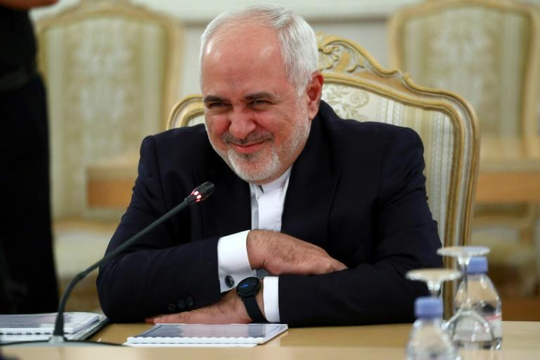 Iranian Foreign Minister Mohammad Javad Zarif, seen here on a September 2020 visit to Russia, has denounced US unilateralism in an address to the United Nations