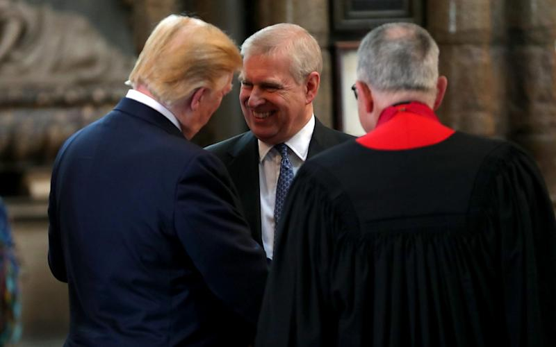 Donald Trump and the Duke of York inside Westminster Abbey in June 2019 - Chris Jackson Collection