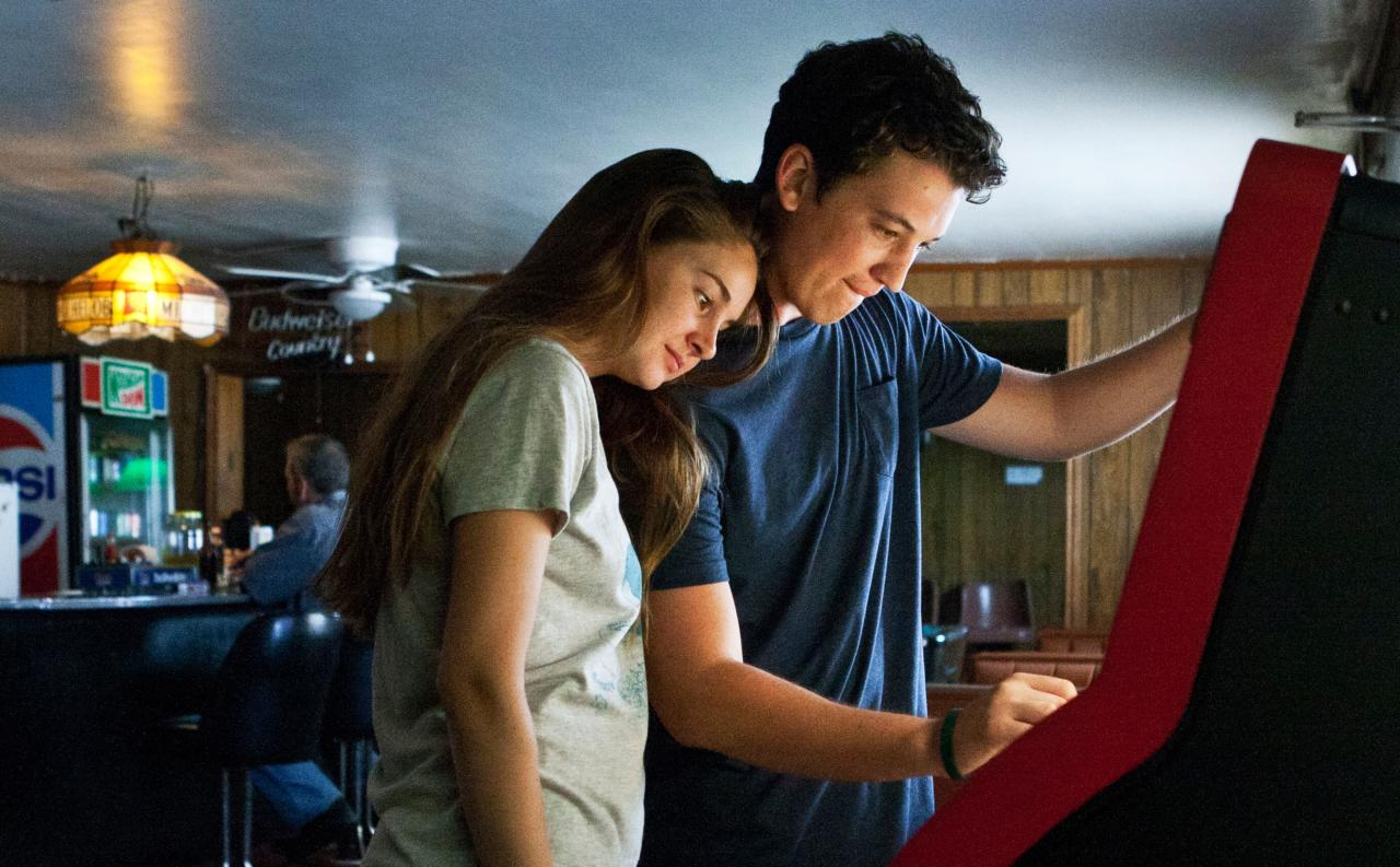 """Woodley claims another spot on our list with her performance in <em>The Spectacular Now</em>, based on a book of the same name by Tim Tharp. In it she plays Aimee, a shy, unpopular teenager who begins a relationship with her high school's social king, Sutter (Miles Teller). <em>Buy the book on Amazon</em> <a href=""""https://www.amazon.com/Spectacular-Now-Tim-Tharp/dp/0385754302""""><em>here</em></a><em>.</em>"""