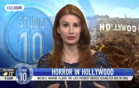 Michele Mahone, who previously worked as a reporter on the Today show and Wake Up, has defended her story claiming late actor Patrick Swayze gave her a