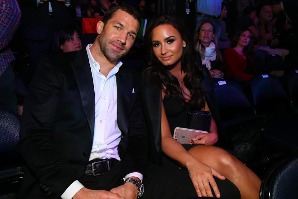 <p>Former UFC middleweight champion Luke Rockhold and musician Demi Lavato during attend the UFC 205 event at Madison Square Garden on November 12, 2016 in New York City. (Photo by Mike Stobe/Zuffa LLC/Zuffa LLC via Getty Images) </p>