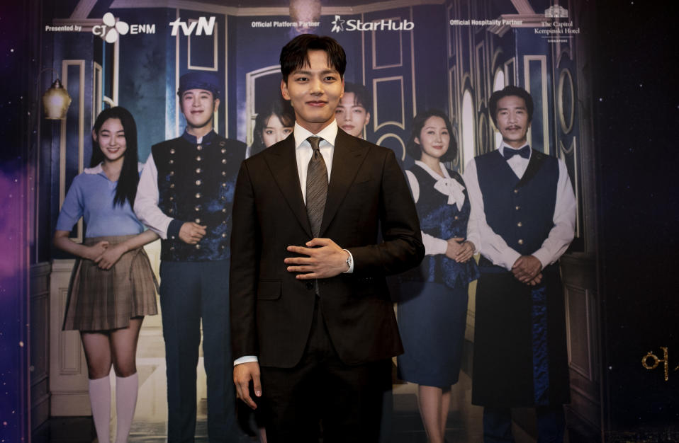 Hotel Del Luna star Yeo Jin Goo met with media and fans at the media conference in Singapore. (PHOTO: tvN)