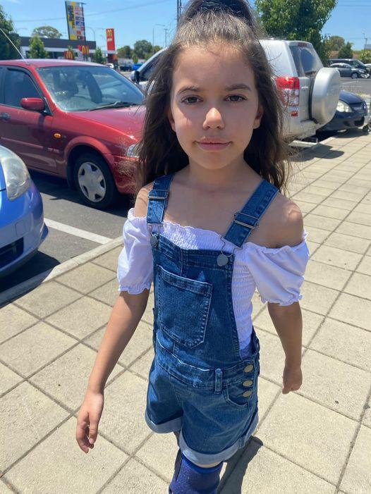A mum has been forced to defend her daughter's clothing choices amid outrage online. Photo: supplied.
