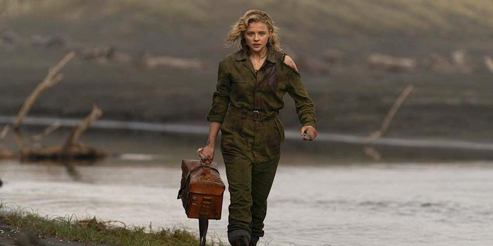 """<p>Definitely the most bonkers movie in this year's TIFF line-up, <em>Shadow in the Cloud</em> takes its cues from the B-movie """"creature features"""" of old infused with the spirit of Rosie the Riveter. Chloe Moretz plays Maude, an injured flight officer claiming to be assigned to a B-17 Flying Fortress just leaving a New Zealand Allied air base during WWII. Suspicious of the airwoman who is carrying a strictly confidential package, the misogynist all-male crew force her to wait in a ball turret gunner hanging from the bottom of the plane. As the ship leaves, the crew members find themselves under attack from more than enemy fire.</p><p>The film is seriously ridiculous, full of genre cliches, """"strong female character"""" tropes, and mind-boggling plot points that will have you screaming with laughter. But even at its most eye-rolling, there is a lot of fun to be had in filmmaker Jessica Liang's feature debut.</p>"""