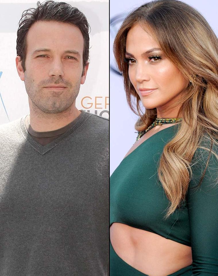 """<i>OK!</i> reveals that, in the wake of Jennifer Lopez's split with Marc Anthony, and """"amid rumors of marital strife"""" between Ben Affleck and Jennifer Garner, the stage is """"set for Bennifer, take two."""" In fact, the mag says the former lovers are """"talking"""" about getting """"back together,"""" and notes """"even J. Lo's mom is in on it."""" For what Affleck and Lopez's next move is, and what those in their camps leak about them reuniting, click over to <a href=""""http://www.gossipcop.com/jennifer-lopez-ben-affleck-back-together-2011-jlo-bennifer-reuniting-reunion/"""">Gossip Cop</a>. Todd Williamson/<a href=""""http://www.wireimage.com"""" target=""""new"""">WireImage.com</a>/Kevork Djansezian/<a href=""""http://www.gettyimages.com/"""" target=""""new"""">GettyImages.com</a>"""