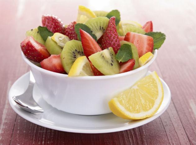 <b>Thursday  </b><br><br>Green tea is a good option to kick off your day. <br><b>Breakfast</b>: Fruits like apples, banana, and fat free yoghurt. <br><b>Lunch</b>: Tomato soup, roasted beef, radish, lettuce, tomato, pear and whole wheat chapatti with 1 cup of chopped vegetables. <br><b>Dinner</b>: Cooked brown rice and pineapple/apple/orange pieces.  <br><b>Tip</b>: Eat your food slowly. For snacks instead of fried items or sweets, try nuts or fruits and protein shake, or salads. Settle for sugar free and low carb options while buying ice creams and cakes.