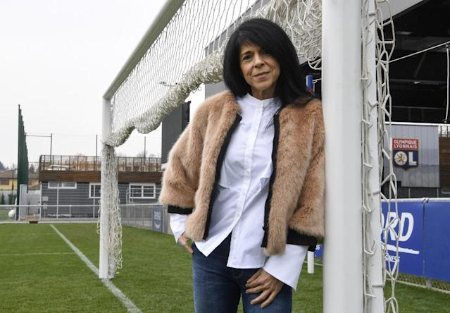 Isabelle Dias is Lyon's official translator but her role consists of far more than helping them fill in paperwork, she even organises activities for players' children and family outings (AFP Photo/PHILIPPE DESMAZES)
