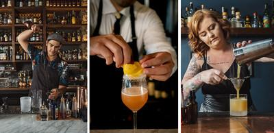 The Cognac Classic Crawl features top bars from Boston, MA and Portland, OR; From left to right, credits from photo one and three go to Jordan Hughes; credit for photo two goes to Ran Duan.