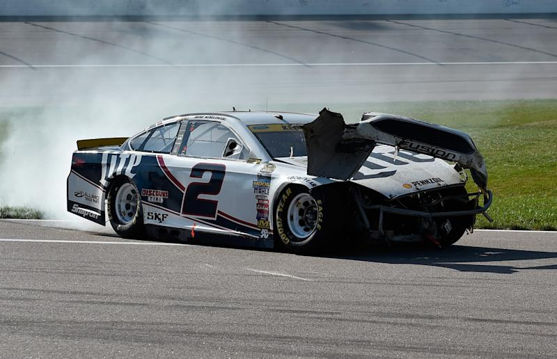 Brad Keselowski fell from 4th to 11th in the standings thanks to his lap 190 spin. (Getty)