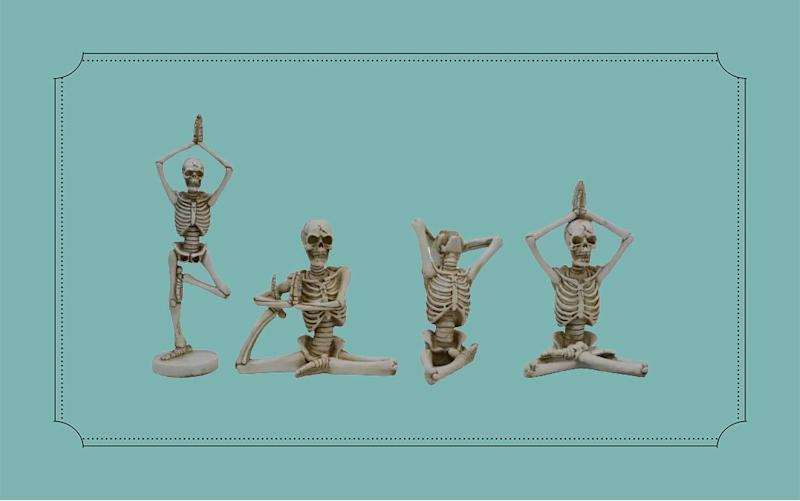 Yoga Skeletons Are This Year's Newest Halloween Trend