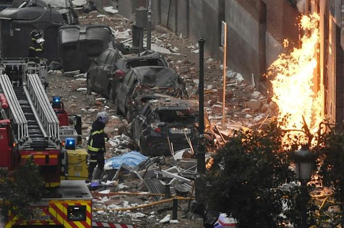 At least 15 cars were either destroyed or damaged by the blast