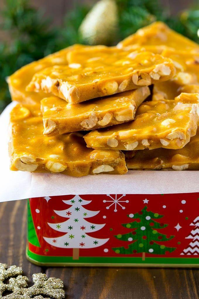 """<p>On the off chance you've got an hour to kill during December, that's just enough time to whip up a batch of this crunchy peanut brittle.</p><p><strong>Get the recipe at <a href=""""https://www.dinneratthezoo.com/peanut-brittle"""" rel=""""nofollow noopener"""" target=""""_blank"""" data-ylk=""""slk:Dinner at the Zoo"""" class=""""link rapid-noclick-resp"""">Dinner at the Zoo</a>. </strong></p>"""