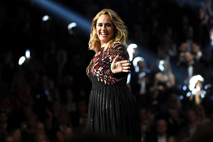 Adele performing at the 2017 Grammy Awards. She said earlier this year that she'd release an album in September, but it's been delayed due to the pandemic. (Photo: Kevork Djansezian via Getty Images)