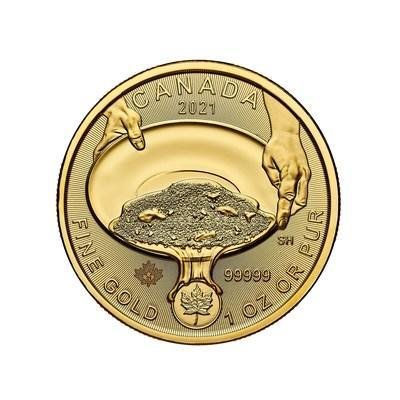 The Royal Canadian Mint's pure gold coin marking the 125th anniversary of the famous Klondike gold rush (CNW Group/Royal Canadian Mint)