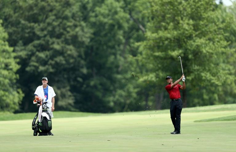 At the Memorial in July, Tiger Woods played his final round watched only by his caddie