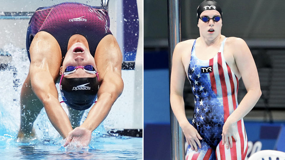 Team USA swimmers, pictured here in action at the Olympics.