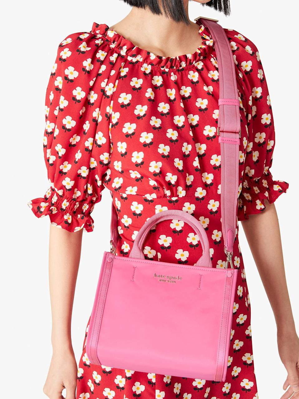 <p>This adorable new <span>Kate Spade New York The Little Better Sam Nylon Mini Tote</span> ($178) is serving us '90s vibes.</p>