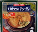 """<p>Another quick meal option, this Chicken Pot Pie actually seems pretty decent when you give the nutrition facts a quick glance. But look closer: """"Half of this small pie is 380 calories, meaning the whole thing is over 700 calories!"""" Wandzilak says. """" If these were nutritious calories that would be fine, but the ingredients list shows that the second most-used ingredient is pie crust (i.e. flour, vegetable shortening and oils)."""" Try making your own <a href=""""https://www.delish.com/cooking/recipes/a46338/slow-cooker-chicken-pot-pie-recipe/"""" rel=""""nofollow noopener"""" target=""""_blank"""" data-ylk=""""slk:chicken pot pie in the slow cooker"""" class=""""link rapid-noclick-resp"""">chicken pot pie in the slow cooker</a> for a fast and healthier option.</p>"""