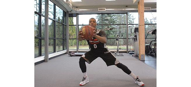 Side Squat with Basketball