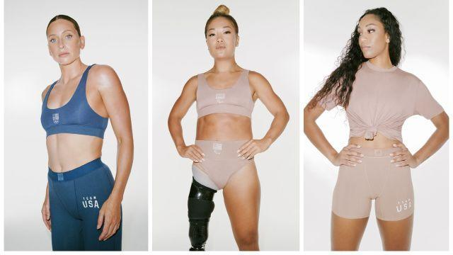 Campaign images of the SKIMS Olympic collection