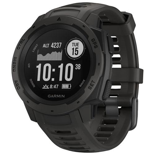 Save $100 Garmin Instinct 45mm GPS Watch with Heart Rate Monitor. Image via Best Buy.