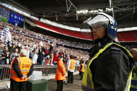 Britain Football Soccer - Bradford City v Millwall - Sky Bet League One Play-Off Final - Wembley Stadium, London, England - 20/5/17 Police watch fans after the game Mandatory Credit: Action Images / John Sibley Livepic