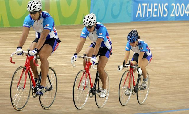 <p>Osuga also represented Japan as a cyclist at the 2004 summer games in Athens where she competed in the 500 meter time trial event.(Getty) </p>