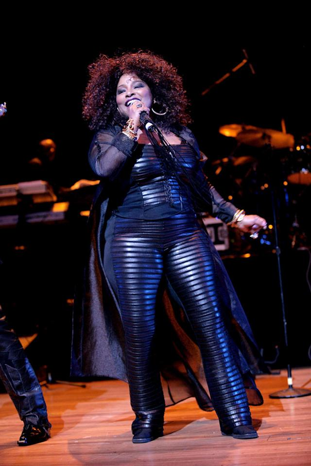 "We're confused. Is that Chaka Khan or the Michelin Man? Serge Thomann/<a href=""http://www.wireimage.com"" target=""new"">WireImage.com</a> - June 13, 2008"