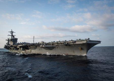 FILE PHOTO: U.S. aircraft carrier USS Carl Vinson in the Pacific Ocean