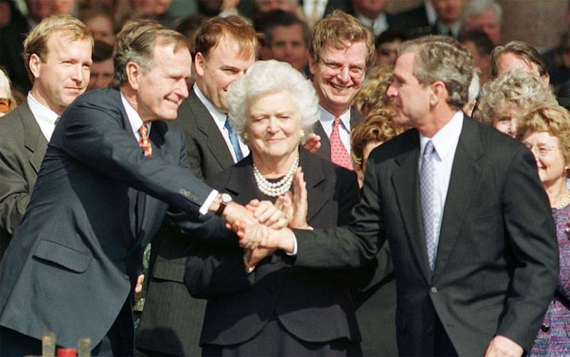 George H.W. Bush, Barbara Bush and George W. Bush