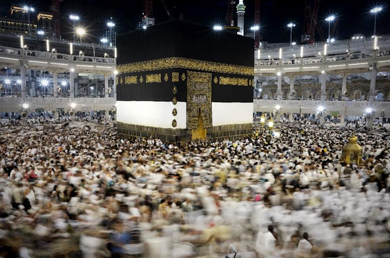 Muslim pilgrims circle Islam's holiest shrine, the Kaaba, at the Grand Mosque in the Saudi city of Mecca, during the annual Hajj in 2015