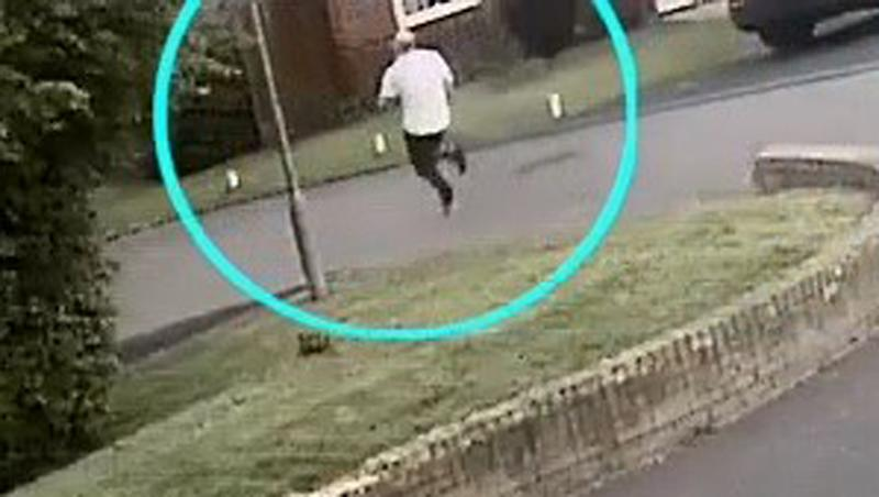 Screengrab taken from CCTV issued by the Metropolitan Police of alleged serial rapist Joseph McCann being pursued by police just before being arrested (PA)