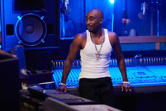 """Directed by Benny Boom &bull; Written by Jeremy Halt, Eddie Gonzalez and Steven Bagatourian<br><br>Starring Demetrius Shipp Jr., Kat Graham, Dominic L. Sanata, Danai Gurira, Jamal Woolard and Lauren Cohan<br><br><strong>What to expect:&nbsp;</strong>In 2015, """"Straight Outta Compton"""" turned N.W.A.'s origin story into a box-office smash. """"All Eyez on Me"""" will attempt to do the same with Tupac Shakur, chronicling his rise to fame,&nbsp;rivalry with Notorious B.I.G. and brutal death at the age of 25.<br><br><i><a href=""""https://www.youtube.com/watch?v=njnwYSybwko"""" rel=""""nofollow noopener"""" target=""""_blank"""" data-ylk=""""slk:Watch the trailer"""" class=""""link rapid-noclick-resp"""">Watch the trailer</a>.</i>"""