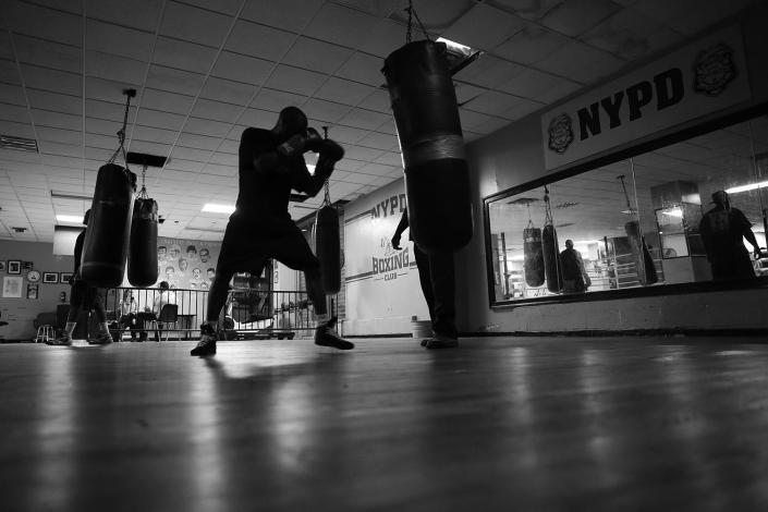 Richie from East New York trains at of one of the NYPD Boxing-sponsored gyms in the Bedford-Stuyvesant section of Brooklyn, on June 13, 2017. (Gordon Donovan/Yahoo News)