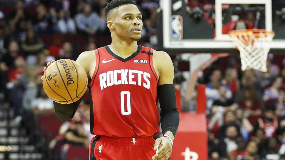 Russell Westbrook, pictured here in action for the Houston Rockets.