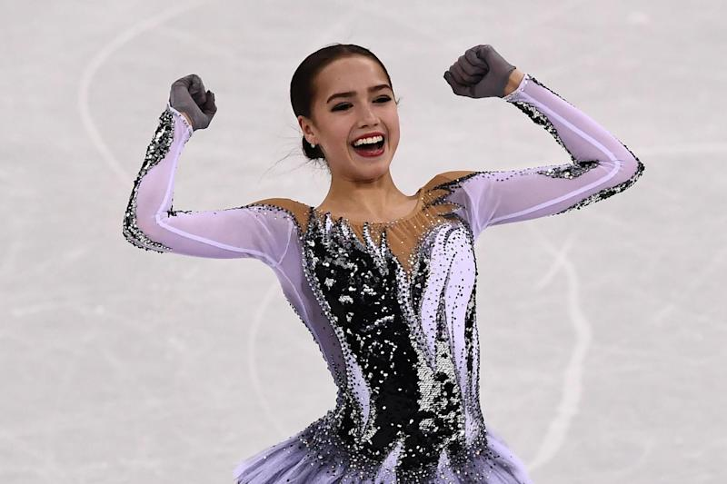 Alina Zagitova: AFP/Getty Images/Aris Messinis
