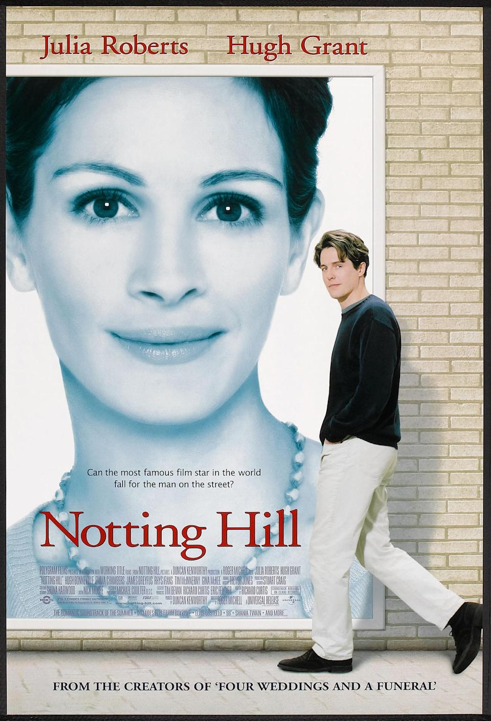 Poster for the movie 'Notting Hill (directed by Roger Michell), 1999. (Photo by Buyenlarge/Getty Images)