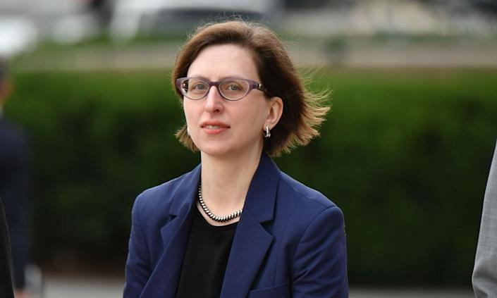 "<span class=""element-image__caption"">Laura Cooper, the deputy assistant secretary of defense for Russia, Ukraine and Eurasia arrives for a closed-door deposition in Washington DC.</span> <span class=""element-image__credit"">Photograph: Mandel Ngan/AFP via Getty Images</span>"