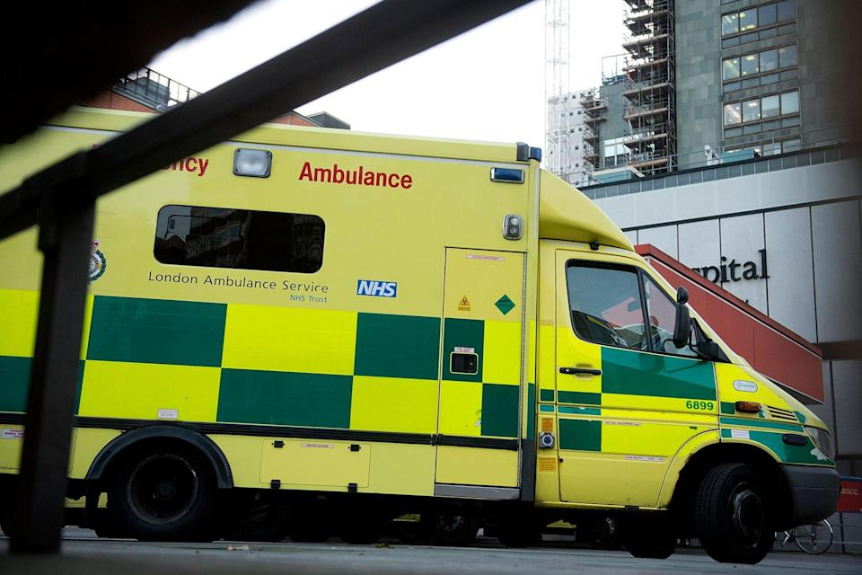 The London Ambulance paramedic was flagged down on her way to a 999 call. (Getty Images)