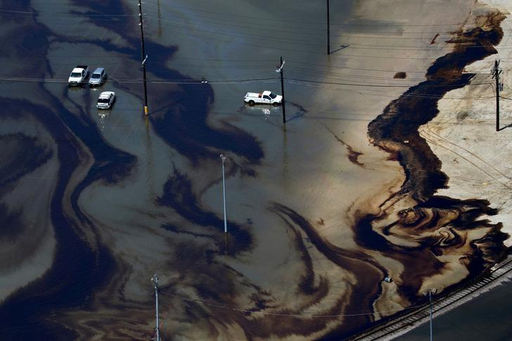 Oil and chemical spills from Hurricane Harvey big, but dwarfed by Katrina