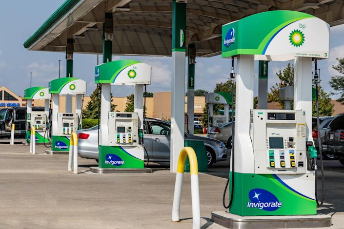Noblesville - Circa August 2018: BP Retail Gas Station. BP is One of the World's Leading Integrated Oil and Gas Companies V