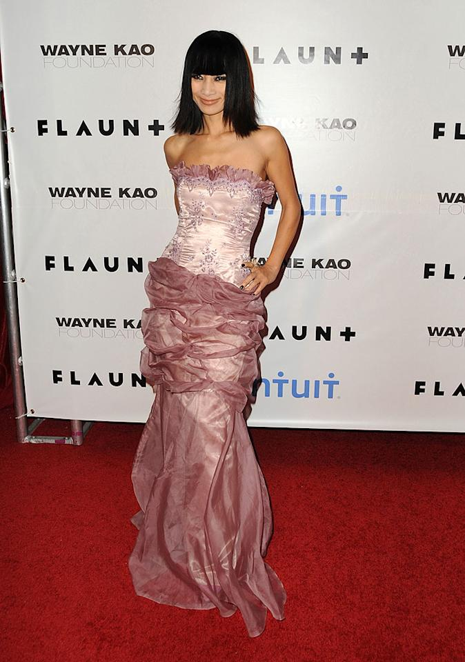 "Compared to some of her previous fashion flubs, Bai Ling's ruffled pink dress was downright demure. Jordan Strauss/<a href=""http://www.wireimage.com"" target=""new"">WireImage.com</a> - December 18, 2008"