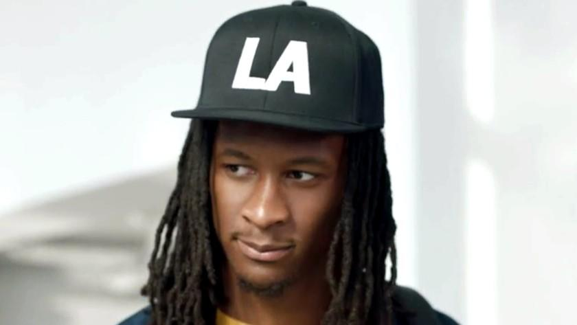 Rams running back Todd Gurley appears in a Carl's Jr. commercial.