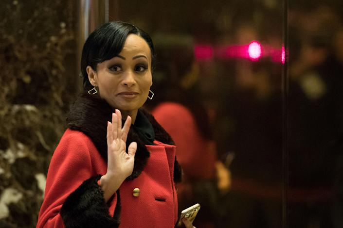 Republican political consultant Katrina Pierson at Trump Tower in New York City in 2016. (Drew Angerer/Getty Images)